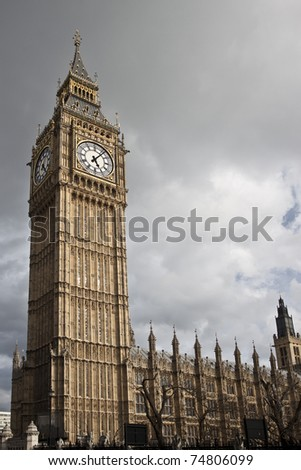 Big Ben on Westminster Palace in London