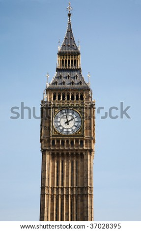 Big Ben's clock in London