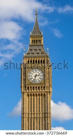 Big Ben Tower, London, Great Britain - stock photo