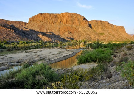 Big Bend Ranch State Park, Rio Grande Horizontal - stock photo