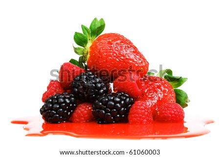 big berry pile - stock photo