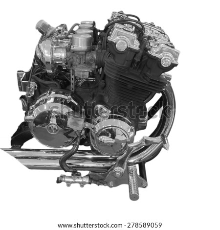Big bike new engine. - stock photo