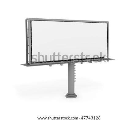 Big billboard format 5x2m. 3d digital generated image - stock photo