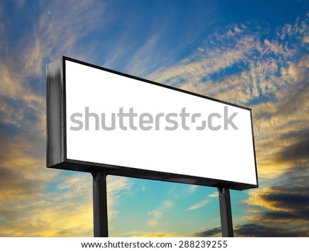 big billboard on the sky