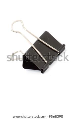 big black paper clip - stock photo