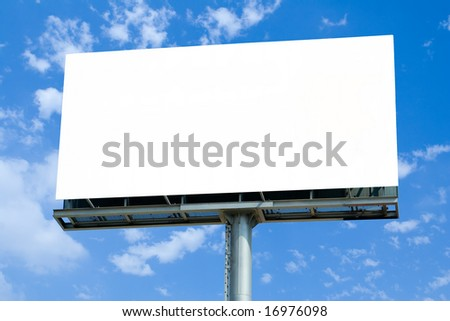 Big Blank Billboard - stock photo