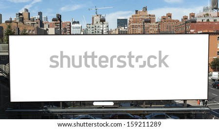 Big blank billboard in New York City - stock photo