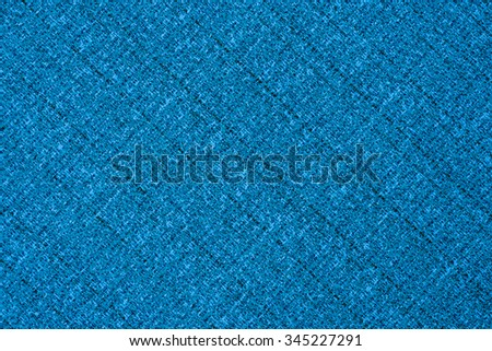 big Blue linen seamless texture in close-up (texture pattern for continuous replication) - stock photo