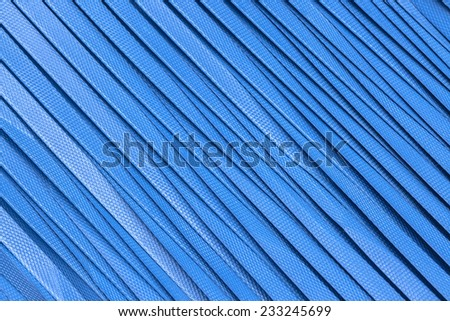 Big blue nylon tape in texture