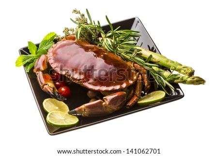 Big boiled crab - stock photo