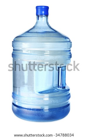 Big bottle for cooler. Isolated on white background with clipping path. - stock photo