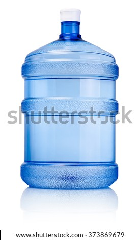Big bottle of drinking water isolated on a white background - stock photo