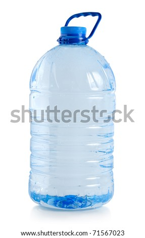 Big bottle of water isolated on a white background (Path) - stock photo