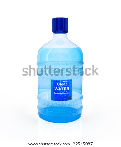 Big bottle of water isolated on the white background - stock photo