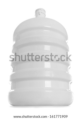 Big bottle of water packaging isolated on a white background - stock photo