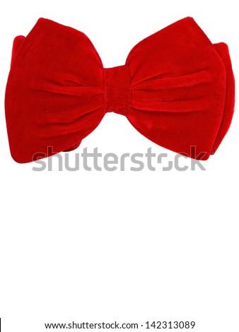Big bow tie card - stock photo