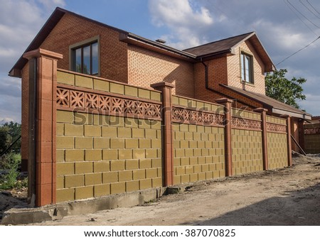 Big brick fence