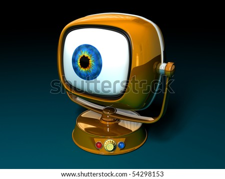 Big Brother Stylish retro TV. Retro revival - stock photo