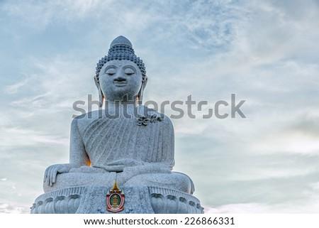Big Buddha monument on the island of Phuket, Thailand - stock photo