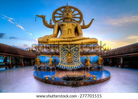 Big Buddha on Ko Samui , Thailand - stock photo