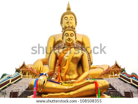 Big buddha statue at Wat muang temple in thailand