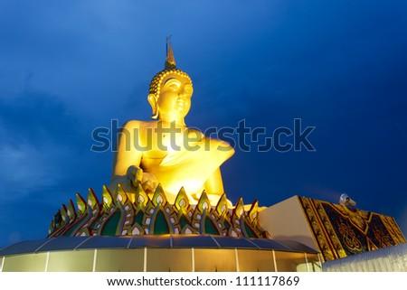 Big Buddha Statue in a meditation position - stock photo