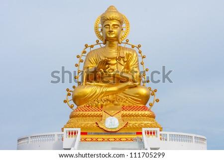 Big buddha statue in thailand - stock photo