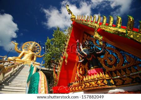 Big Buddha Temple in Koh Samui, Thailand - stock photo