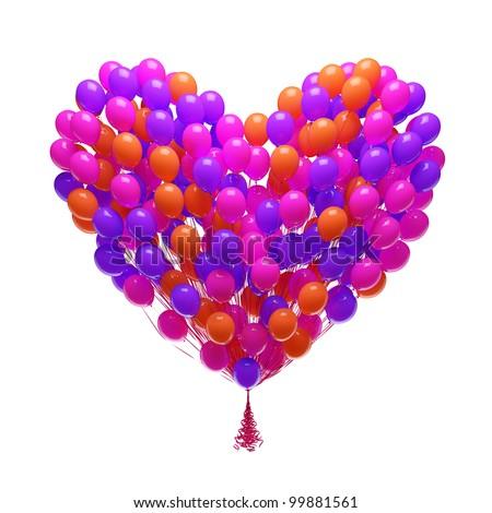 Heart-shaped balloons Stock Photos, Heart-shaped balloons Stock