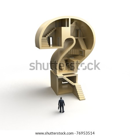 big business question - stock photo