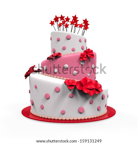 Big Cake Isolated