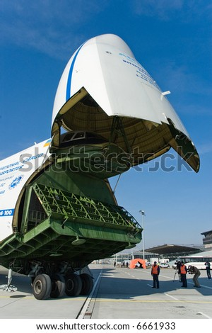 big cargo jet - stock photo