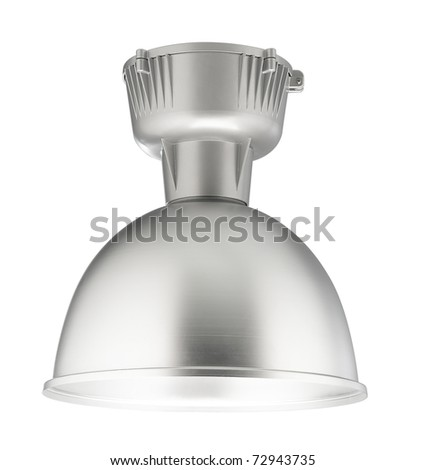 Big ceiling lamp for factory, department store, gymnasium or big hall - stock photo