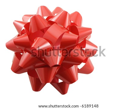 Big Christmas Bow isolated on white