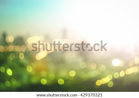 Big city concept. Aerial Amazing Beauty Light Hotel Asia Industry Soft Town Glow Sun Hope Office Plant Sunshine Capital Fresh Backdrop Vintage Urban Blurry Bright Supply Tourism Blue Hour Go Green CSR