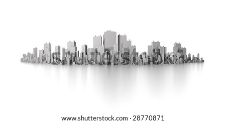big city skyline panorama