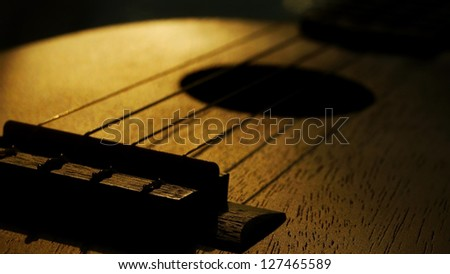 Big Close Up of Ukulele or Uke - stock photo