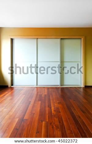 Big Closet Glass Doors Empty Room Stock Photo Safe To Use 45022372