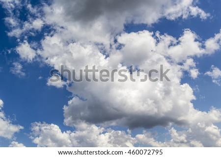 big clouds background - stock photo