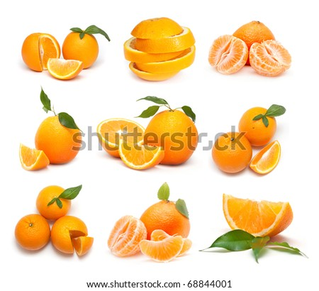 Big collection of oranges