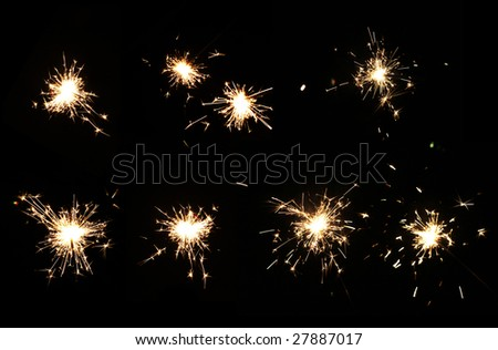 Big Collection of Sparkler - stock photo