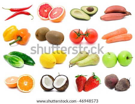 Big collection of vegetables and fruits