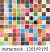 Big collection patterns on different topics. Raster version - stock photo