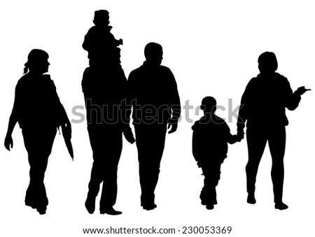 Big crowds children on white background - stock photo