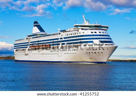 Big cruise liner - stock photo