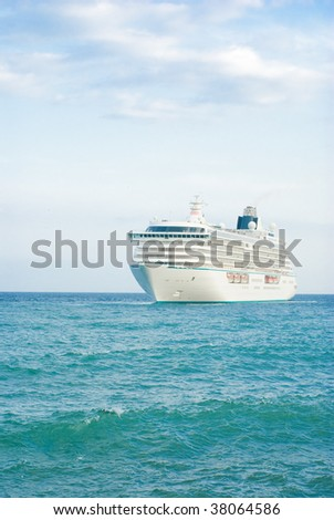 Big cruise ship - stock photo