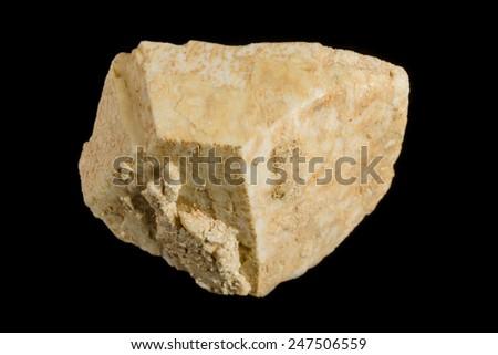 Big crystal of orthoclase K-feldspar from pegmatite - stock photo