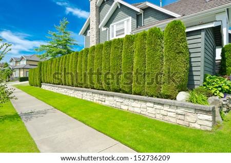 Stock images similar to id 202670647 beautiful backyard for Luxury fences