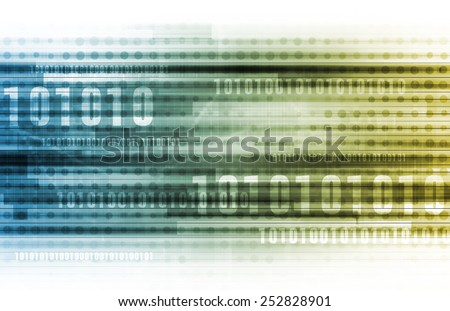 Big Data and Cloud Computing Solution Online - stock photo