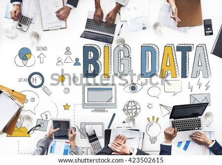 Big Data Information Storage Network System Concept - stock photo